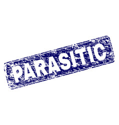 scratched parasitic framed rounded rectangle stamp vector image