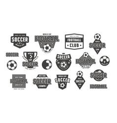Set template emblem for soccer team vector