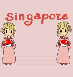 Singapore set objects vector
