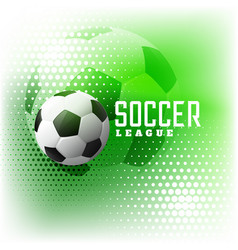 Soccer halftone sports abstract background vector