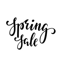 spring sale hand drawn calligraphy and brush pen vector image