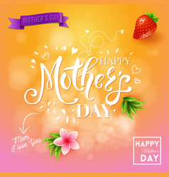 square happy mothers day design with background vector image