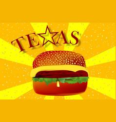 Texas cheeseburger vector