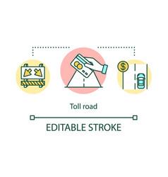 Toll road concept icon vector