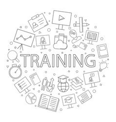 Training background from line icon vector
