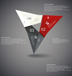 Triangle origami infographic dark vector