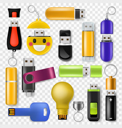 usb flash drive memory storage and digital vector image