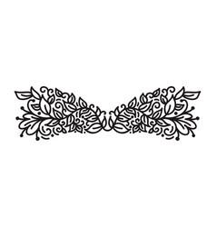 Vintage monoline flourish scandinavian monogram vector