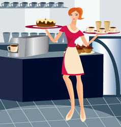Waitress-working vector