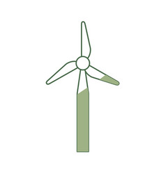 Wind turbine eolic energy vector