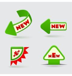 3d green arrow labels vector image vector image