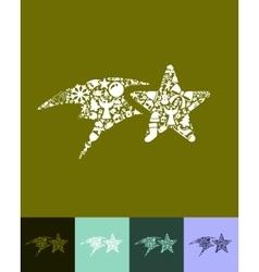 christmas star icon vector image vector image