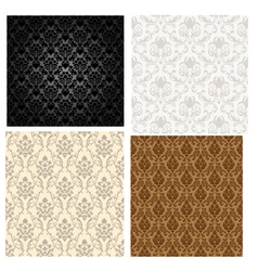 damask seamless vector image vector image