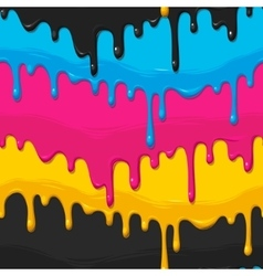 Dripping paint seamless vector image