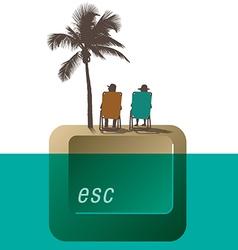 Escape Palm Tree couple vector image vector image