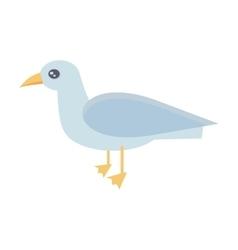 Gull Bird in Flat Design vector image