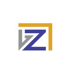 letter z company logo vector image