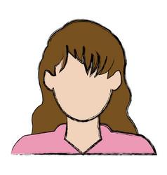 Profile avatar user icon woman female people vector