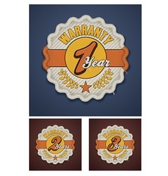 warranty term fabric badge vector image