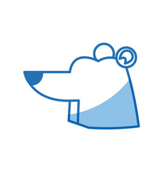 cartoon bear animal winter wildlife vector image