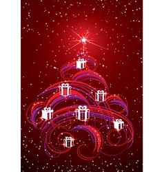 christmas tree abstract vector image