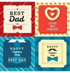Fathers day greating card with man pattern and vector image vector image