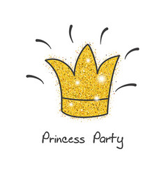 gold princess party decor gold princess party vector image vector image