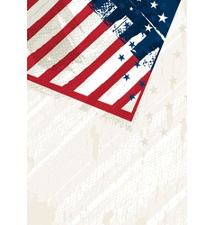 grunge usa background vector image