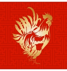 Red fire rooster chinese new year 2017 symbol vector