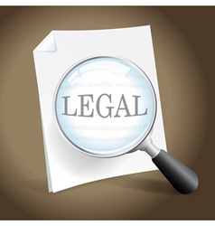 Reviewing a Legal Document vector image