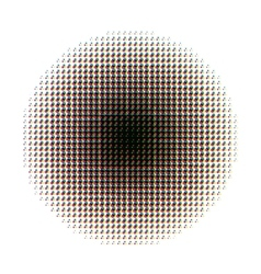 Round halftone screen pattern in CMYK colours on vector image