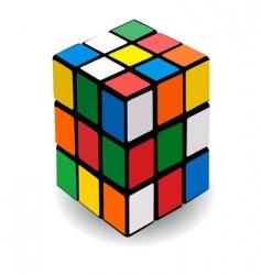 rubikaposs cube vector image