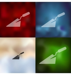 trowel icon on blurred background vector image vector image