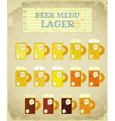 Vintage Beer Card Lager vector image vector image
