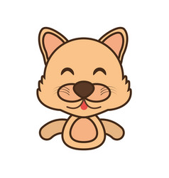 wolf baby animal funny image vector image
