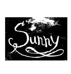 chalk texture word sunny vector image vector image