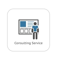 Consulting Service Icon Business Concept vector image
