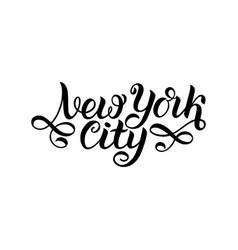 new york city ny logo isolated black nyc label vector image vector image