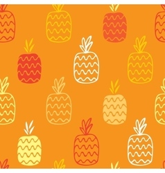 Pineapples seamless pattern vector image vector image