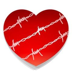Barbwire Love Heart vector image