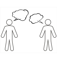 A group of characters is having a discussion vector image
