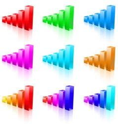 abstract bar graphs vector image