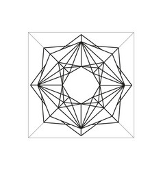 Abstract geometric symbol isolated on white vector