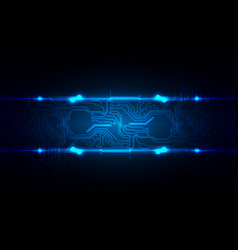 abstract technology circuit with blue light vector image