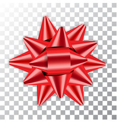 bow ribbon red christmas isolated vector image