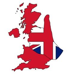 British hand signal vector image