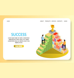 business success landing page website vector image