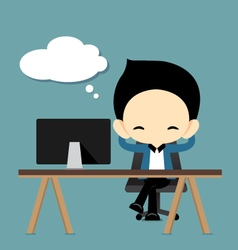 Businessman resting and dreaming vector image