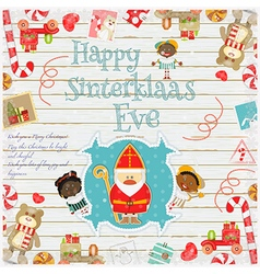 Cartoon Sinterklaas or Saint Nicholas vector
