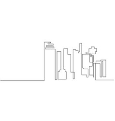 city landscapes line vector image